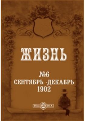 Литературный, научный и политический журнал «Жизнь». 1902. № 6. Сентябрь-декабрь