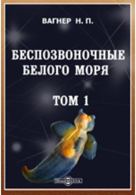 Беспозвоночные Белого моря:: научно-популярное издание. Т. 1