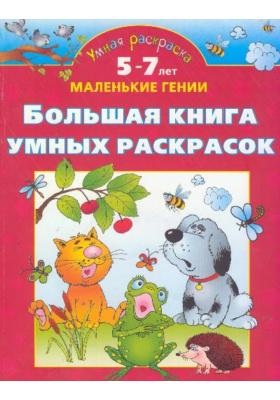 Большая книга умных раскрасок. 5-7 лет