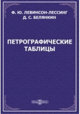 Петрографические таблицы