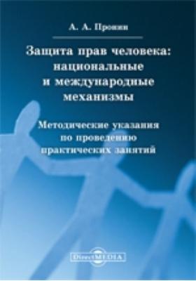Защита прав человека : национальные и международные механизмы: методические указания по проведению практических занятий