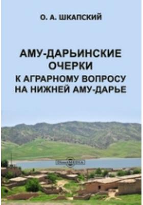 Аму-Дарьинские очерки. К аграрному вопросу на нижней Аму-Дарье
