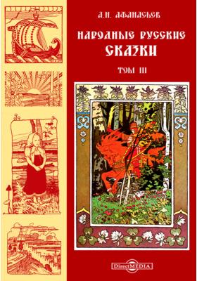 Народные русские сказки. Т. 3