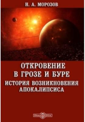 Откровение в грозе и буре. История возникновения Апокалипсиса: монография