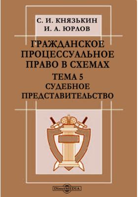 Гражданское процессуальное право в схемах : Тема 5. Судебное представительство: презентация