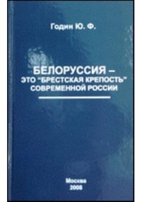 """Белоруссия — это """"Брестская крепость"""" современной России"""