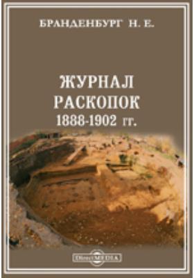 Журнал раскопок Н. Е. Бранденбурга, 1888-1902 гг