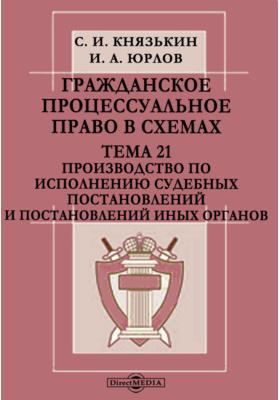 Гражданское процессуальное право в схемах : Тема 21. Производство по исполнению судебных постановлений и постановлений иных органов: презентация