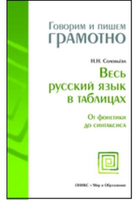 Весь русский язык в таблицах. От фонетики до синтаксиса