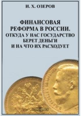 Финансовая реформа в России. Откуда у нас государство берет деньги и на что их расходует