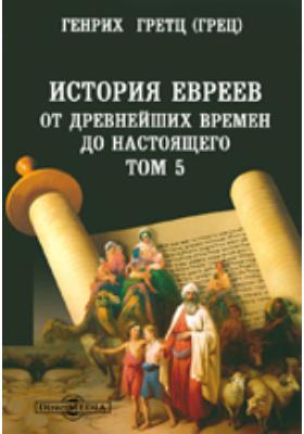 История евреев от древнейших времен до настоящего. Т. 5