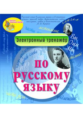 Электронный тренажёр по русскому языку