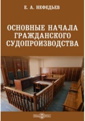 Основные начала гражданского судопроизводства
