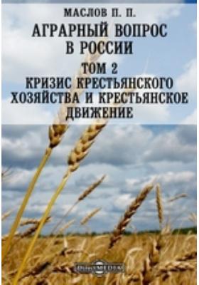 Аграрный вопрос в России. Т. 2. Кризис крестьянского хозяйства и крестьянское движение