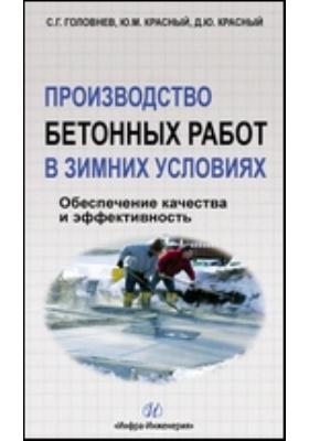 Производство бетонных работ в зимних условиях : обеспечение качества и эффективность: учебное пособие