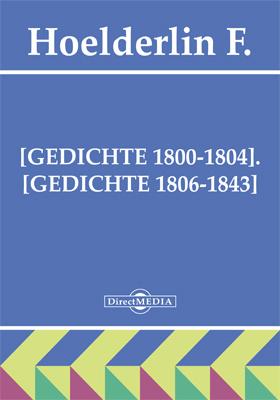 Gedichte 1800 1804 Gedichte 1806 1843