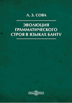 Эволюция грамматического строя в языках банту: монография