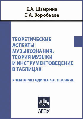 Теоретические аспекты музыкознания : теория музыки и инструментоведение в таблицах: учебно-методическое пособие