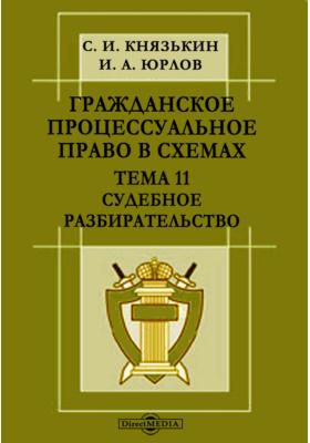 Гражданское процессуальное право в схемах : Тема 11. Судебное разбирательство: презентация
