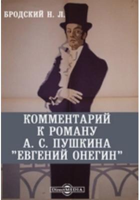 """Комментарий к роману А. С. Пушкина """"Евгений Онегин"""""""