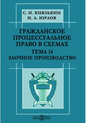 Гражданское процессуальное право в схемах : Тема 14. Заочное производство: презентация