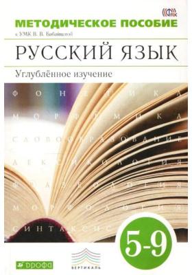 Методическое пособие к УМК В.В. Бабайцевой. Русский язык. 5-9 классы. Углублённое изучение : 3-е издание, стереотипное