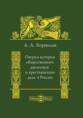 Очерки истории общественного движения и крестьянского дела в России: монография