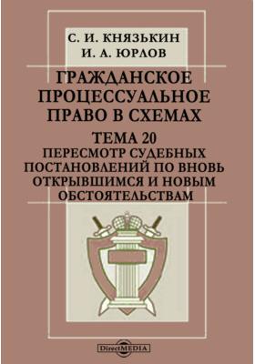 Гражданское процессуальное право в схемах. Тема 20. Пересмотр судебных постановлений по вновь открывшимся и новым обстоятельствам
