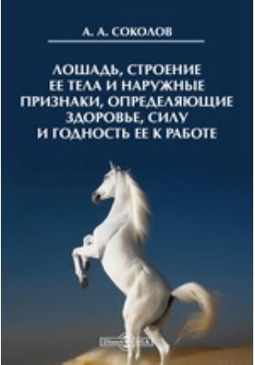 Лошадь, строение ее тела и наружные признаки, определяющие здоровье, силу и годность ее к работе
