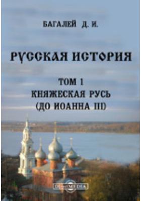 Русская история(до Иоанна III). Т. 1. Княжеская Русь