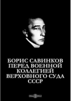 Борис Савинков перед Военной коллегией Верховного Суда СССР: монография