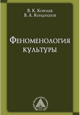 Феноменология культуры: учебник для вузов