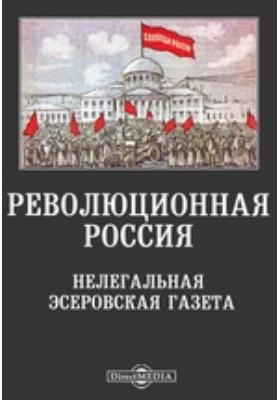 Революционная Россия. Нелегальная эсеровская газета: журнал. 1904