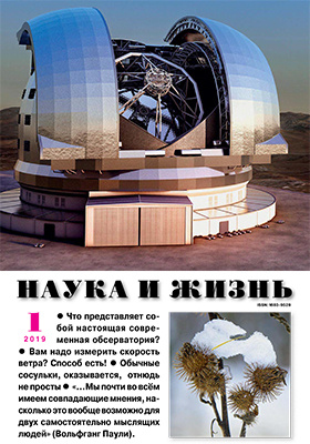 Наука и жизнь: журнал. 2019. № 1