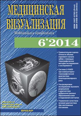 Медицинская визуализация = Medical Visualization. 2014. № 6