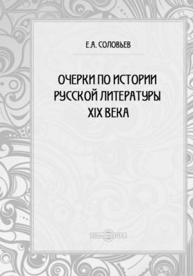 Очерки по истории русской литературы XIX века