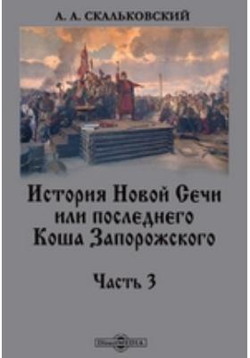 История Новой Сечи или последнего Коша Запорожского, Ч. 3