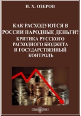 Как расходуются в России народные деньги? Критика русского расходного бюджета и государственный контроль