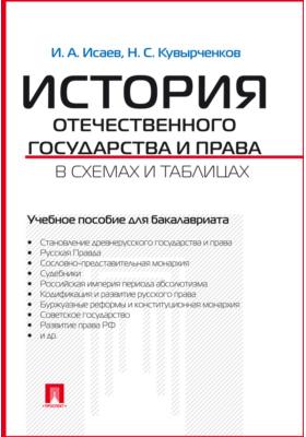 История отечественного государства и права в схемах и таблицах: учебное пособие для бакалавров