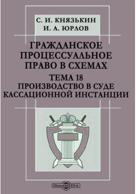Гражданское процессуальное право в схемах : Тема 18. Производство в суде кассационной инстанции: презентация