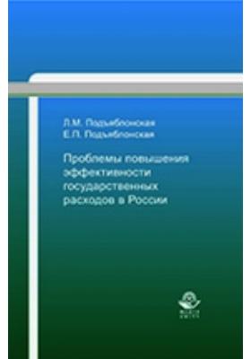 Проблемы повышения эффективности государственных расходов в России