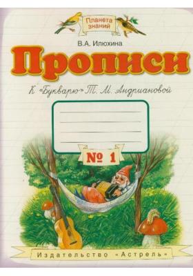 """Прописи к """"Букварю"""" Т.М. Андриановой. 1 класс. В 4 тетрадях. Тетрадь № 1"""
