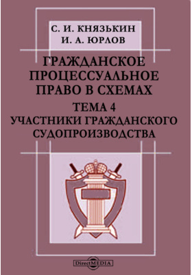 Гражданское процессуальное право в схемах : Тема 4. Участники гражданского судопроизводства: презентация