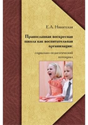Православная воскресная школа как воспитательная организация: социально-педагогический потенциал: монография