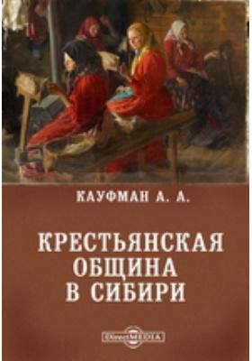 Крестьянская община в Сибири: монография