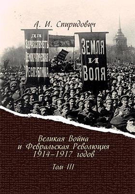 Великая Война и Февральская Революция 1914–1917 годов: научно-популярное издание. Том 3