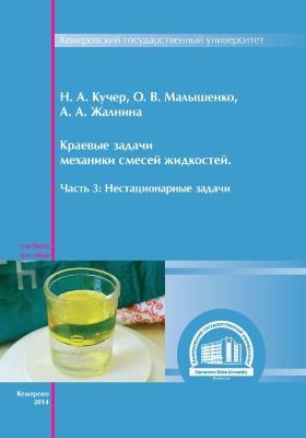 Краевые задачи механики смесей жидкостей: учебное пособие, Ч. 3. Нестационарные задачи