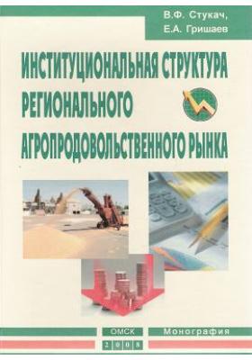 Институциональная структура регионального агропродовольственного рынка