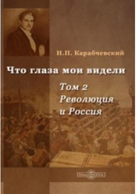 Что глаза мои видели: документально-художественная литература. Т. 2. Революция и Россия