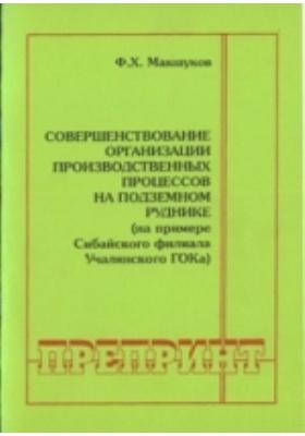 Совершенствование организации производственных процессов на подземном руднике (на примере Сибайского филиала Учалинского ГОКа)